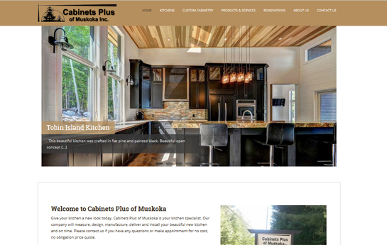 cabinets plus of muskoka website
