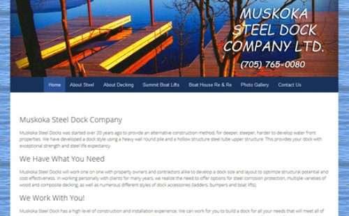 muskoka steel dock company